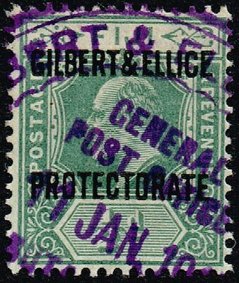 Gilbert & Ellice Islands ½d. green, used (SG#1)