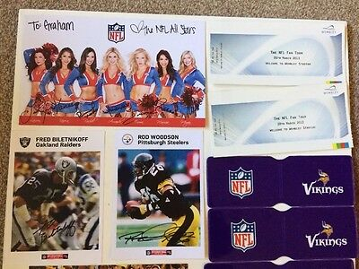 Small Job Lot Of NFL Items, Some Signed, Nice Selection See Photos