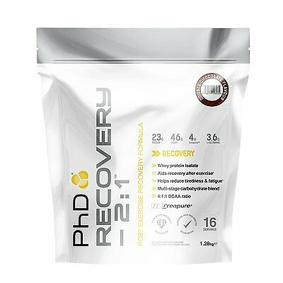 PhD Nutrition Recovery 2:1 Whey Protein BCAA 1.28kg. Post Exercise Recovery