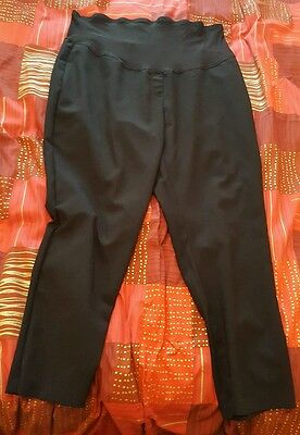 george maternity black formal over bump trousers size 20