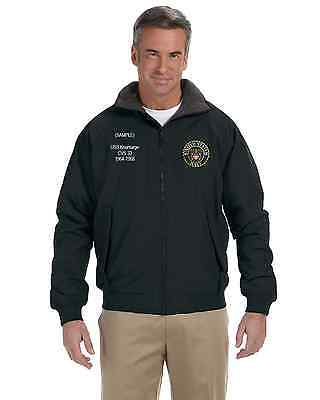 US Navy Custom Embroidered Personalized Cold Weather Classic Jacket NWT