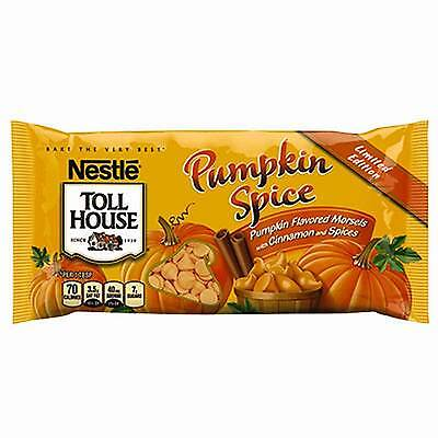 LIMITED EDITION Nestle Toll House Pumpkin Spice FLAVORED MORSELS 4 BAGS