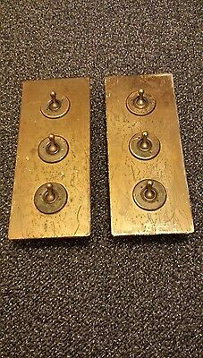 Two vintage toggle light switch