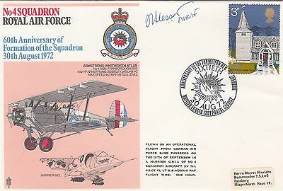 RAF 4c Sqn 60th Anniversary  Signed MRAF Sir Slessor RFC Pilot WW1 Veteran