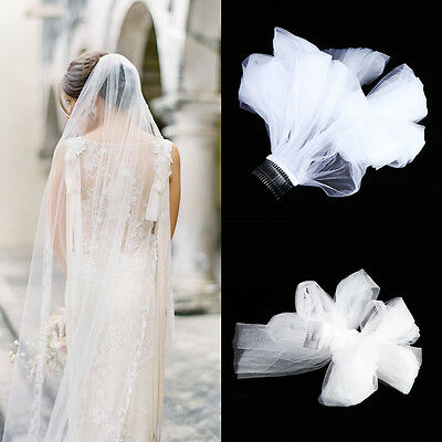 3 Meters Veil White Ivory Wedding Bride Decor Party Mantilla With Comb Church WY