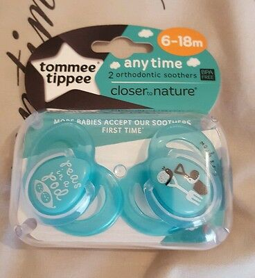 Tommee Tippee Anytime Closer to Nature 6-18 Months Soother turquoise