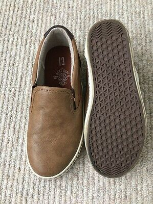 Boys NEXT Brown Slip On Shoes. Great Condition. Size 13