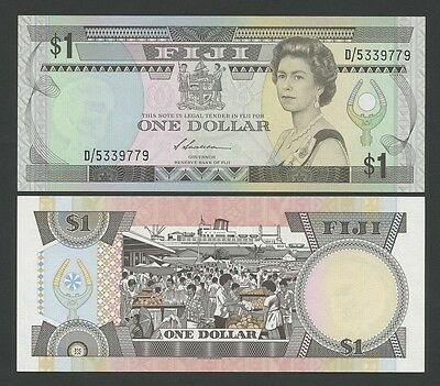 FIJI - QEII  $1  1987  P86  Uncirculated  ( Banknotes )
