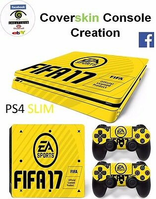 SKIN PS4 SLIM Console FIFA 17 COVER Skin LIMITED EDITION Sticker controllers