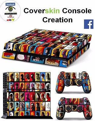 SKIN PS4 MARVEL Console COVER PS4 Decal Skin LIMITED EDITION + CONTROLLER