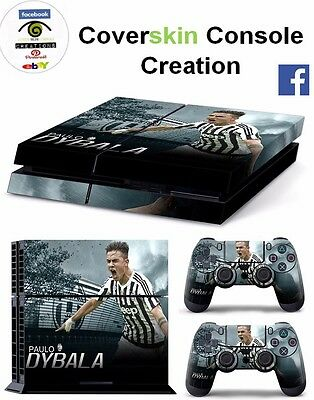 SKIN PS4 DYBALA Console COVER PS4 Decal Skin LIMITED EDITION + CONTROLLER