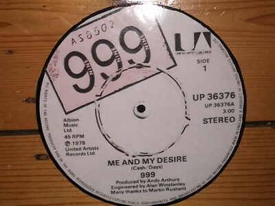 999  Punk   Me And My Desire Display 'picture Disc'
