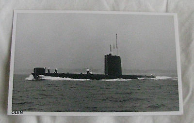 Wright & Logan Photograph of Royal Navy Submarine HMS ODIN in 1979