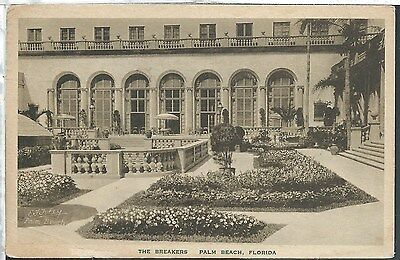 Albertype Palm Beach Florida FL 1929 Vintage Collotype Postcard The Breakers
