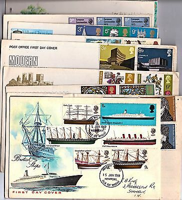 Job lot of FDC's from 1969 to 1973  -  quantity 10