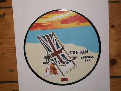 The Jam Burning Sky Display 'picture Disc'