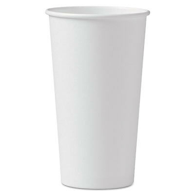 Polycoated Hot Paper Cups, 20 oz, White, 600/Carton 420W