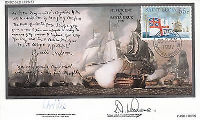 6RN21cb 200th Anniv Battle of Cape St Vincent & Teneriffe Expedition Double Sign