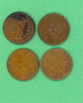 Small collection of USA Indian head cents / pennies