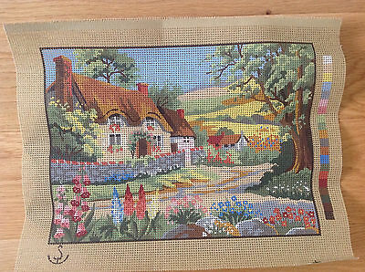 Tapestry canvas, country lane