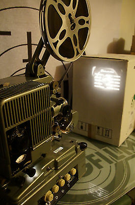 Siemens 2000, 16mm Projector, Filmprojektor, projektor with Tube Amp, working!