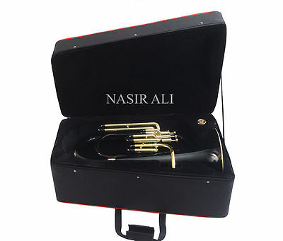 BEST EUPHONIUM BLACK lacquered + YELLOW BRASS POLISH W/FREE H/CASE+MP+SHIPNG