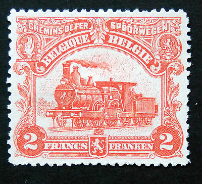 Trains, MM Belgium 1915 Railway Parcels Stamp, 2f Red Value.