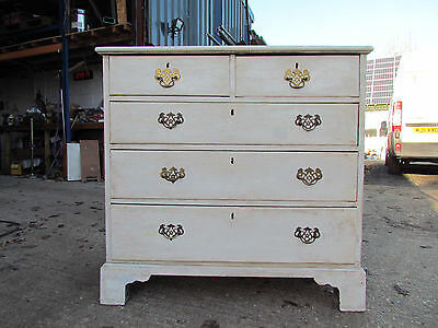 Antique Georgian Period Painted Chest of Drawers Nice Size