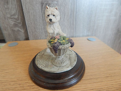 COUNTRY ARTISTS, CA330 west hghland terrier with butterfly