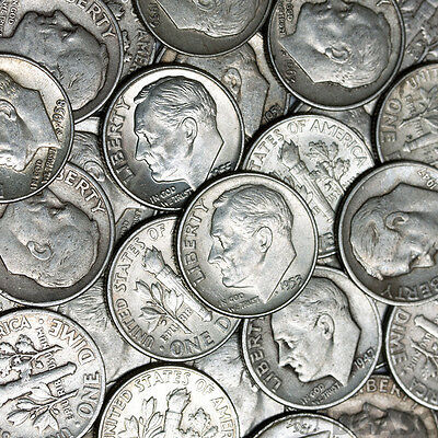 Sale $13.80 All 90% Junk Silver Dimes Coins U.s. Minted Pre 1965 One 1