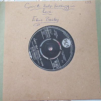 ELVIS PRESLEY  ROCK-A-HULA BABY / CAN'T HELP FALLING IN LOVE 1961 RCA MADE IN uk