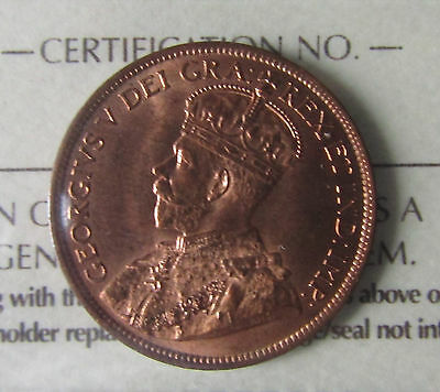1916 Canada 1 Cent ICCS MS-65 Red