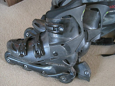 Inline Rollerblades / Roller Skates size UK6 in good condition with accessories