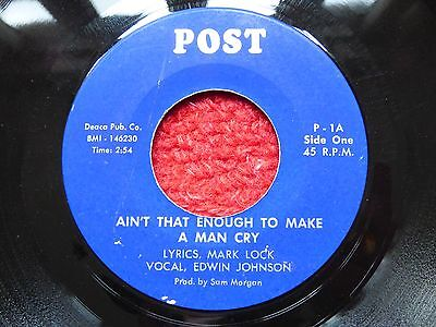 "Northern Soul Wigan R&b 7"" Record Ain't That Enough To Make A Man Edwin Johnson"