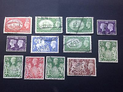 Collection Of GB High Value KGVI Stamps Used
