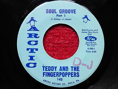 """Original Northern Soul Wigan R&b 7"""" Record Soul Groove Teddy & The Fingerpoppers"""
