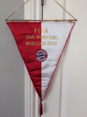 Embroidered Football Pennant Bayern World Cup 2013 Fanion, Wimpel, Gagliardetto