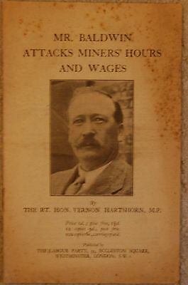 Mr Baldwin Attacks Miner's Hours and wages, (1926?)