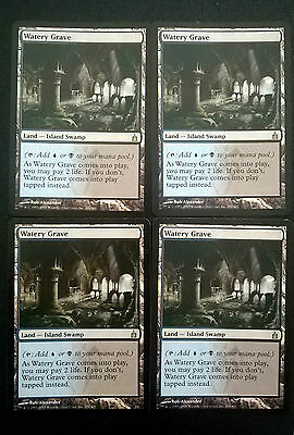 Magic The Gathering MTG – 4x Watery Grave-Ravnica