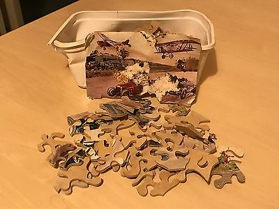 Vintage 150 Piece Wooden Jigsaw Puzzle Brooklands Motor Racing Southern Train