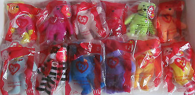 Rare Ty Teenie Beanie Babies 2004 McDonalds promotion - USA Complete Set Mint