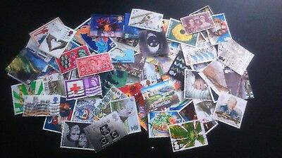 Approx 300 Great Britain Stamps, Off Paper
