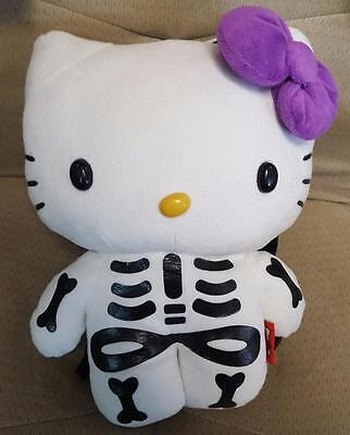 Hello Kitty Plush Backpack Skeleton Halloween New With Tags Sanrio