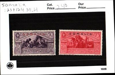 Somalia Stamps Lot Scott 123 + 124 MLH Low Combined Shipping