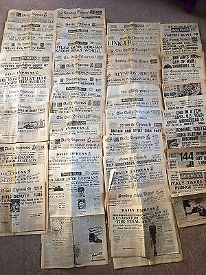 WW2 Newspapers and Posters Vintage