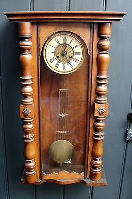 1880s LARGE VICTORIAN VIENNA WALL CLOCK in jolly good working condition