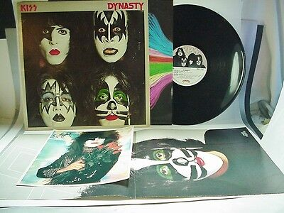 Kiss Dynasty LP Record w Sleeve, Posted and Photo of Paul Stanley
