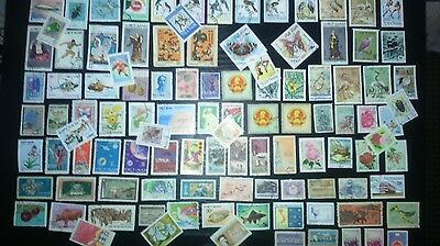 100 Different Asia   Vietnam Stamps - Off Paper - As Seen In Scan (lot 2)