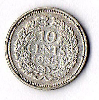 Nice circulated 10 cent silver coin, 1935