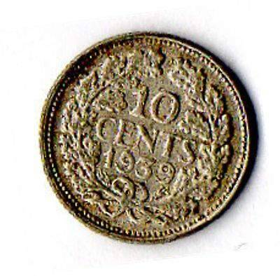 Nice circulated 10 cent silver coin, 1939